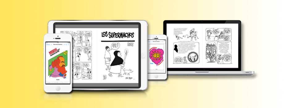 Rius, 80 años: digitalización en formatos ePub fixed-layout y KF8 de la obra del dibujante mexicano, para Penguin Random-House.